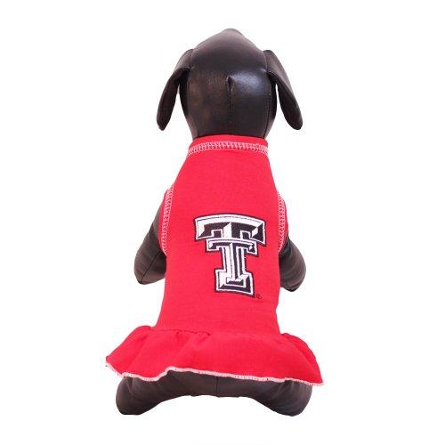 All Star Dogs NCAA Texas Tech Red Raiders Cheerleader Dog Dress, Team, X-Small - Ncaa Cheerleader Uniforms