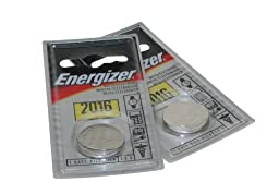 Pair of Energizer CR2016 Batteries (for White, Green, Turquoise, Blue, Purple, & UV Photons)
