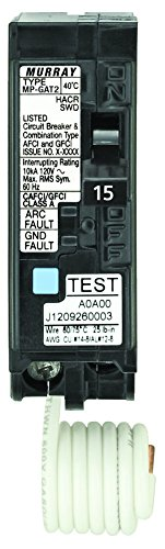 Circuit Interchangeable Packaged Breaker (Siemens MP115DF  15-Amp Afci/Gfci Dual Function Circuit Breaker, Plug on Load Center Style)