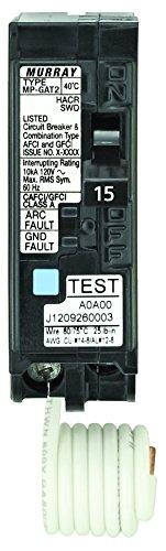 Siemens MP115DF  15-Amp Afci/Gfci Dual Function Circuit Breaker, Plug on Load Center Style (Siemens 20 15)