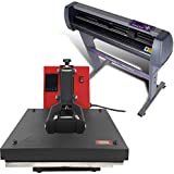 "USCutter 28"" Vinyl Cutter + 15"" x 15"" Digital Heat Press Machine Signs/T-Shirt Making"