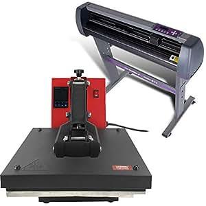 """USCutter 28"""" Vinyl Cutter + 15"""" x 15"""" Digital Heat Press Machine Signs/T-Shirt Making"""