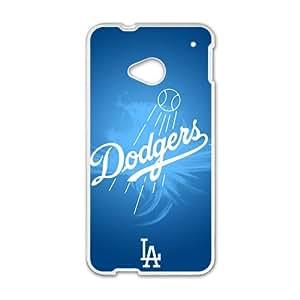 Blue Dodgers Baseball Design Hard Case Cover Protector For HTC M7