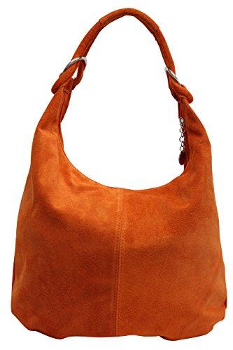 cuero WL822 compartimiento de gamuza Naranja Bolso las asas de Shopper Bolso de de de AMBRA mujeres hombro grande Moda de Bolso bolsa fxPqnTXXR