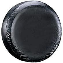 "Leader Accessories 26""-28"" Spare Tire Cover For Jeep, Trailer, RV, SUV, Truck Wheel Fits Entire Wheel 26""-28"", Black Soft Vinyl"