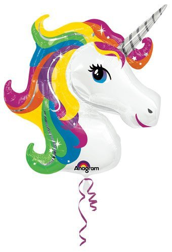 Single Source Party Supplies Rainbow Unicorn Shape Mylar/Foil Balloon twtdream unicorn-001