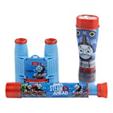 Thomas and Friends 3-Piece Adventure Kit with Binoculars, Flashlight, Telescope, Thomas The Train Inspired Design, 35mm Camera, 4x28 Thomas The Train Inspired Binoculars, 3 Piece, Blue