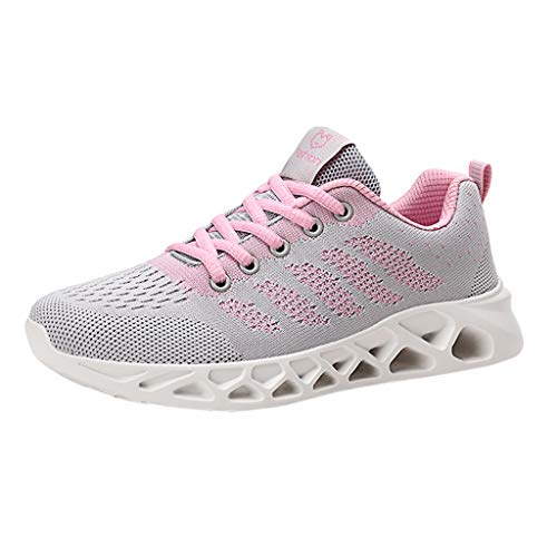 OrchidAmor Fashion Women's Mesh Breathable Sneakers Casual Shoes Student Mesh Breathable Running Shoes 2019 Summer Swag Shoes Pink Demonia Lace Up Sandals