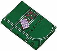 "72"" Craps & Blackjack Casino Activity Game Felt Lay"