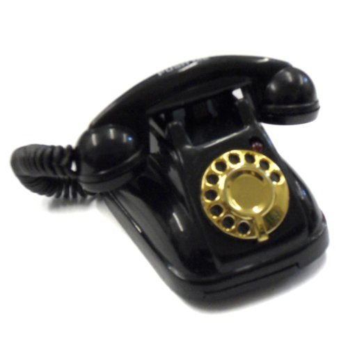 Acme Black Vintage Retro Style Phone Magnet With Ringing Sound - Item #IA4L-M92290