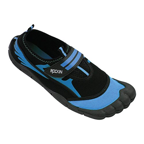 Rockin Footwear Womens Aqua Foot Water Shoes (10, Blue)