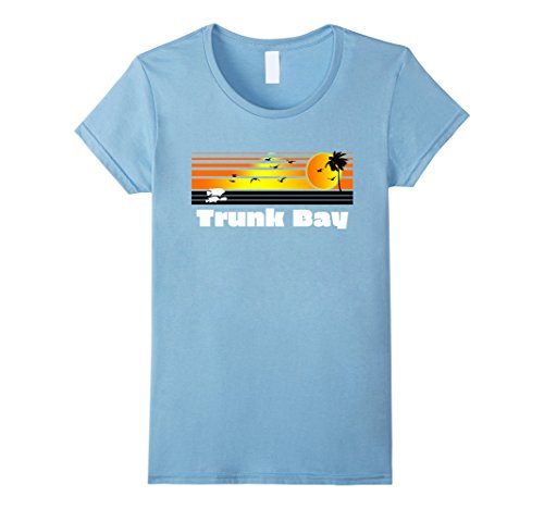 Womens Trunk Bay Retro T Shirt St John Surf Apparel & Vin...