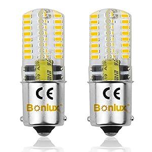 Bonlux LED Ba15s Bulb DC 12V 1156 LED Light 3W Warm White 30000K SMD Single Contact Bayonet SBC Ba15s 1156 LED…
