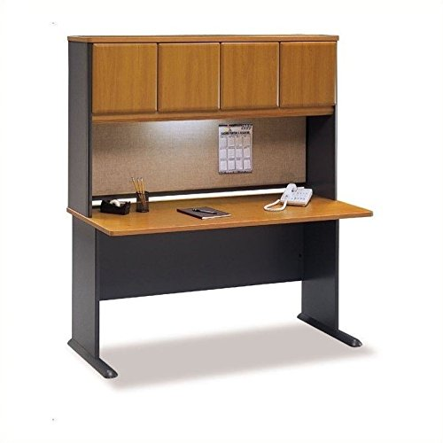 Bush Business Series A 60'' Computer Desk with Hutch in Natural Cherry