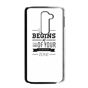 LG G2 Cell Phone Case Black_quotes parallax life begins at the end of your confort zone Jkojw