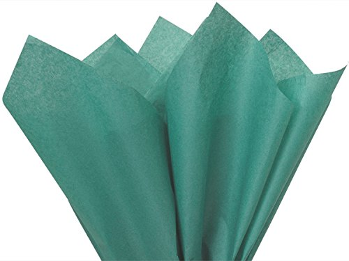 A1BakerySupplies High Quality Gift Wrap Color Tissue Paper - Preimum Quality Paper Made in USA 15 X 20 Inches - 100 Sheets per Pack (Teal Tissue) -