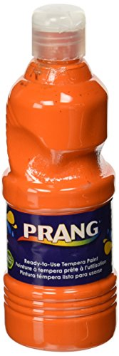 Prang Ready-to-Use Liquid Tempera Paint, 16-Ounce Bottle, Orange (21602)