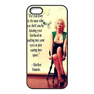 Customized Hard Back for Case For Ipod Touch 5 Cover with Unique Design Monroe Quotes