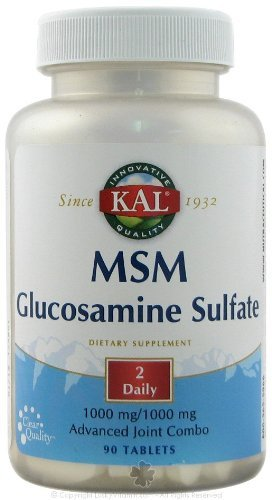KAL - Msm With Glucosamine, 90 tablets [Health and Beauty] by Kal