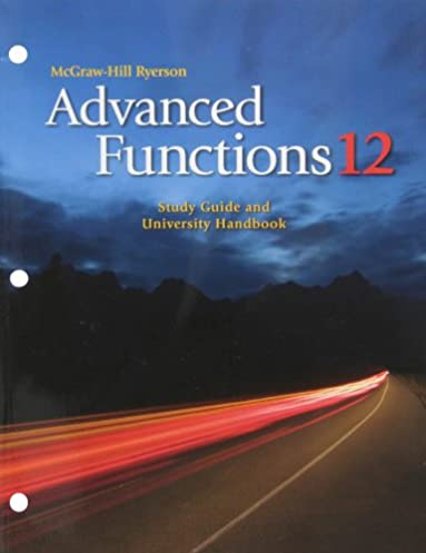 advanced functions 12 study guide and university handbook paula rh amazon ca Calculus Student Solutions Manual PDF Principles of Manufacturing Processes Metal Solutions Manual