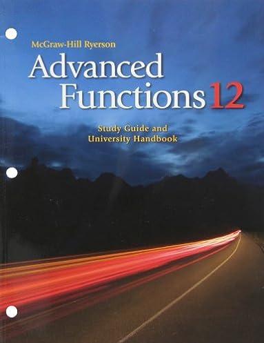 advanced functions 12 study guide and university handbook paula rh amazon ca