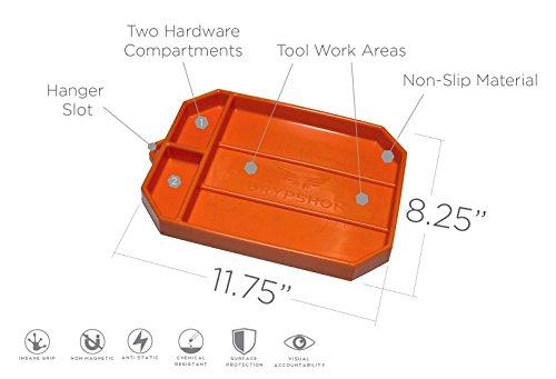 Grypmat   Non-Slip Flexible Orange Tool Tray   Tool Box Organizer   Socket Organizer   Tool Holder   Tool Mats   No Magnets   Easy Clean Up   As Seen On Shark Tank (Medium) by Grypshon (Image #1)