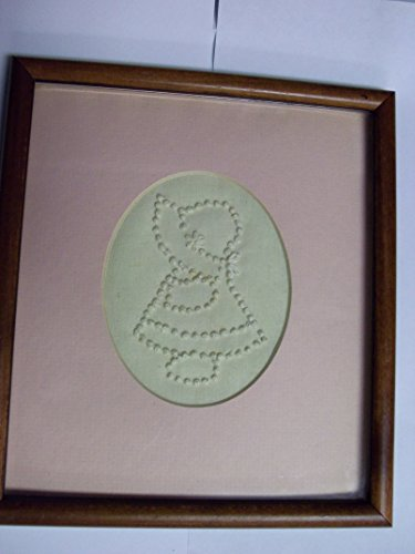 Girl Needlepoint (Little Girl Pink Framed Nursery Handmade Needlepoint (8 X 9 Inch))