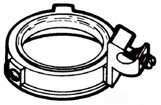 Crouse-Hinds GLS8 Malleable Iron Insulated Ground Bushing With Aluminum Lug 3 Inch
