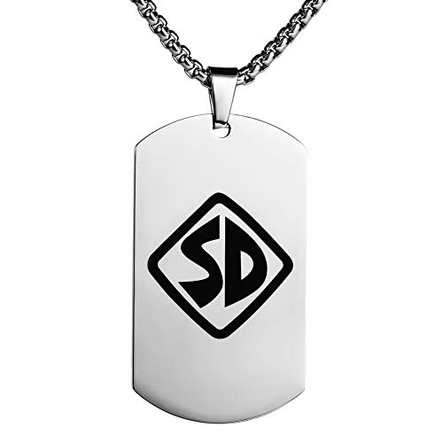taleah Strange Unisex Scooby Doo Logo Steel Necklace Chain Pendant Personalized Dog Tag]()