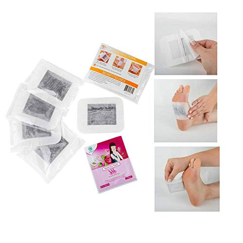 Adhesive Foot Pads For Toxins | ORGANIC | Bamboo Vinegar Cleansing Footpads | Improves Health & Wellness | Lavender Aromatherapy Removes Impurities | Relieves Cracked Dry Feet ()