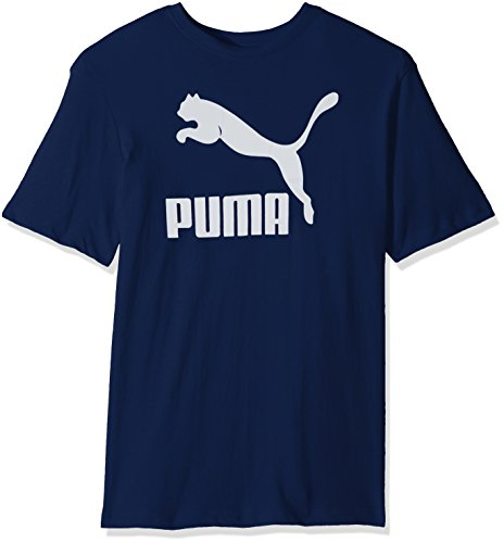 PUMA Men's Archive Life T-Shirt, Blue Depths White, Large