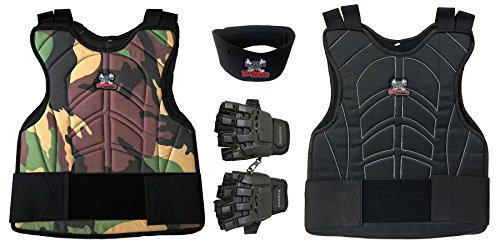 Maddog Sports Padded Chest Protector, Tactical Half Glove, & Neck Protector Combo Package – DiZiSports Store