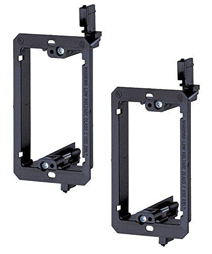 (iMBAPrice LV1-2PK  Single Gang (1-Gang) Low Voltage Mounting Bracket - Black (Pack of 2) )