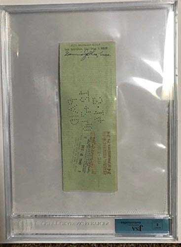 1940 Bert Bell Philadelphia Eagles NFL Commissioner Autographed Signed Check BGS JSA Authentic 2 Autos
