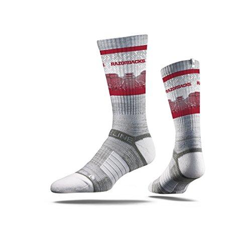 Strideline NCAA Arkansas Razorbacks Premium Athletic Crew Socks, Grey, One Size (Arkansas Razorbacks Nfl)