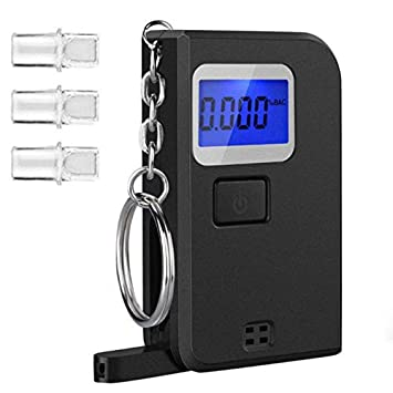 Alcohol Tester Professional Digital Breathalyzer Breath Analyzer With Large Digital Lcd Display 5 Pcs Mouthpieces Hot Sufficient Supply Alcohol Tester