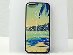 Iphone 5, Iphone 5s Preppy Beach Anchor Case, Awesome Clean Look. Free Screen Protector!