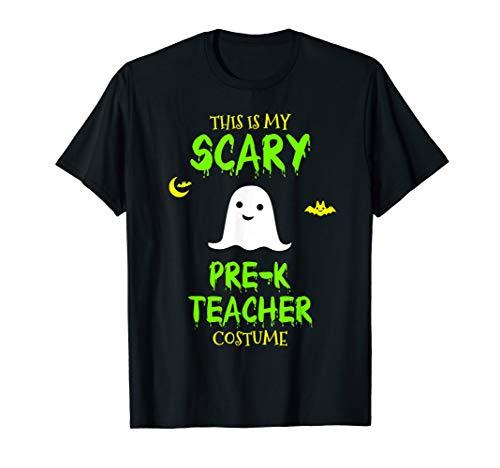 Scary Pre-K Teacher Costume Halloween T-Shirt -