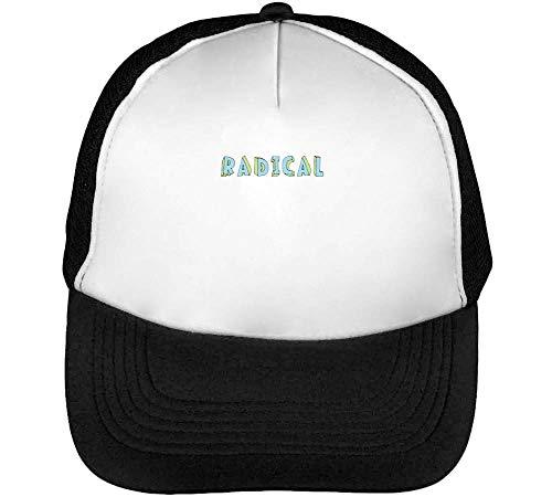 Radical Gorras Hombre Snapback Beisbol Negro Blanco