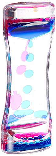 Dash Sensations 4335515815 Water Motion Liquid Bubble Timer - Calming Sensory Fidget and Relaxation Desk Toy - Therapeutic Focus Game for Kids with ADHD, Autism and More - Blue, 1 Pink
