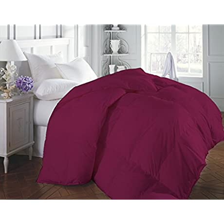 5 PC BEDDING SET 300 TC Egyptian Cotton Hot Pink King By BED ALTER Solid 1 Flat Sheet 1 Fitted Sheet 30 Inch Deep Pocket 2 Pillowcases 1 300 GSM Microfiber Filling Lightweight Comforter