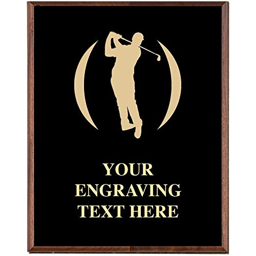 Crown Awards Golf Plaques, Custom Engraved Mens Golf Trophy Plaque Award, Great Customizable Golf Team Gift Prime