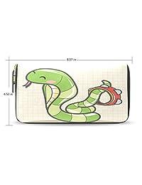 Yochoice Women Lady Wallet,Cartoon Music Snake,Purse Credit Card Holder Case