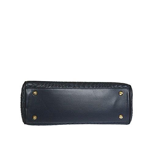 noir Fontanelli à Lisetta bleu main sac tressé italien en designer cuir grab vrdwUqv8T