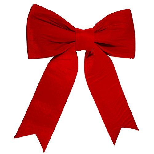 Vickerman 5-ft. Red Velvet Bow - UV-Resistant by Vickerman