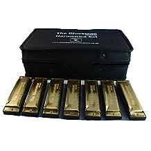 Bluesman Vintage Harmonica Boxed set of 7 harmonicas