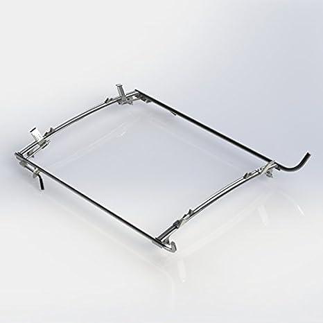 Ranger diseño doble abrazadera Rack para escalera, aluminio, 2 barra, GM/Ford Van de tamaño completo: Amazon.es: Coche y moto