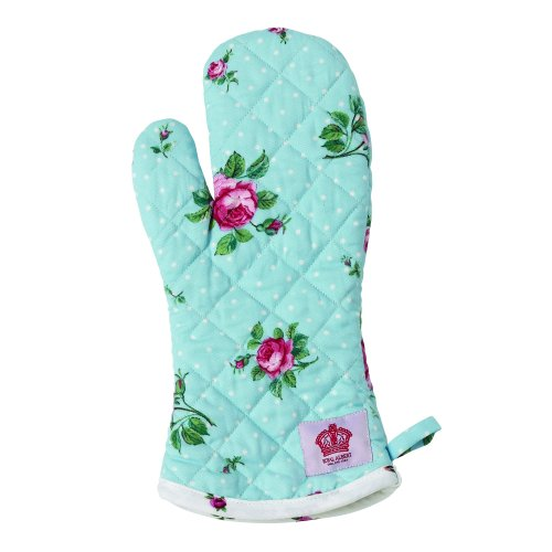 Royal Albert Polka Cotton Oven Mitt One Size Fits All, White/Blue