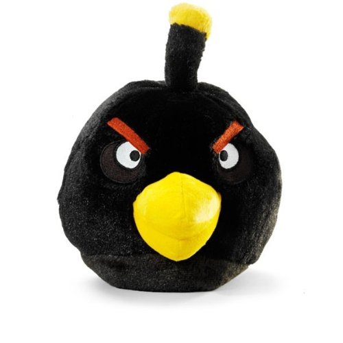 Angry Birds Plush 8-Inch Black Bird with Sound (Angry Bird Toys Set Plush)