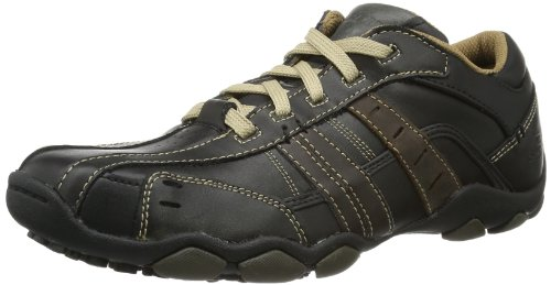 Skechers USA Men's Diameter Vassell Oxford,Black/Tan,9.5 M US (Fashion Solid Stand Collar Single)
